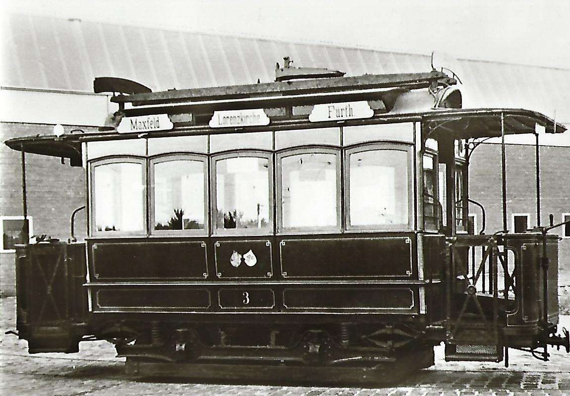 Nürnberg-Fürther Straßenbahn Tw 5. Straßenbahn Bestell-Nr. 96046