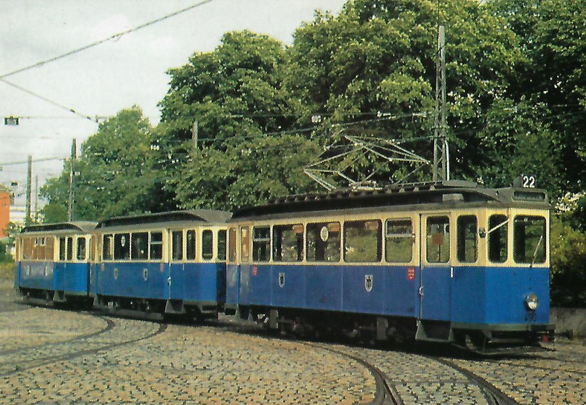 D 6.3-Triebwagen 490 im Betriebshof Westendstraße. Straßenbahn Bestell-Nr. 99118