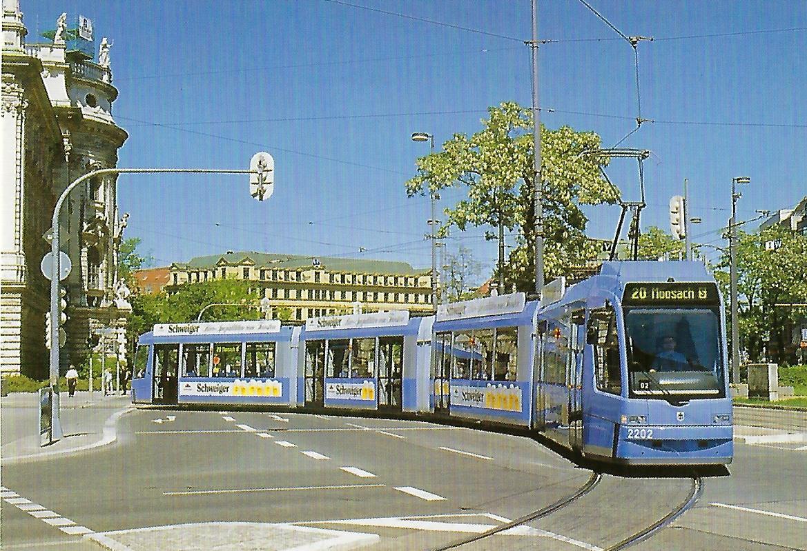 2202 am Karlsplatz Stachus. Straßenbahn Bestell-Nr. 99203