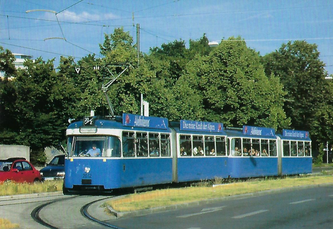 P 3.16-Triebwagen an der Hanauer Straße. Straßenbahn Bestell-Nr. 99212