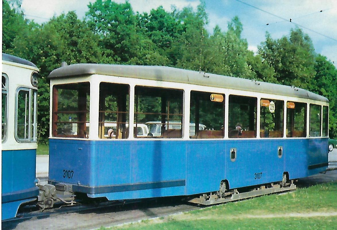 i 4.34-Beiwagen 3107. Straßenbahn Bestell-Nr. 99213