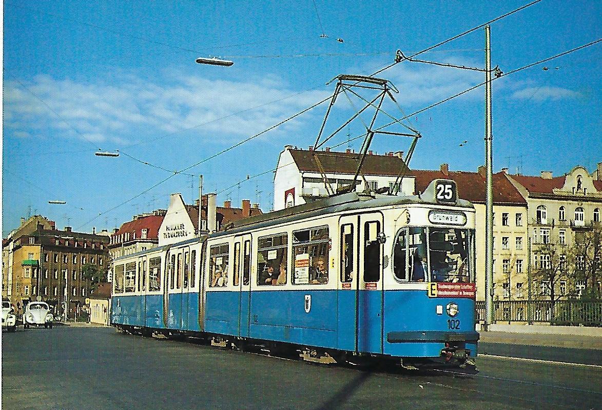 Doppelgelenktriebwagen 102. Straßenbahn Bestell-Nr. 99502