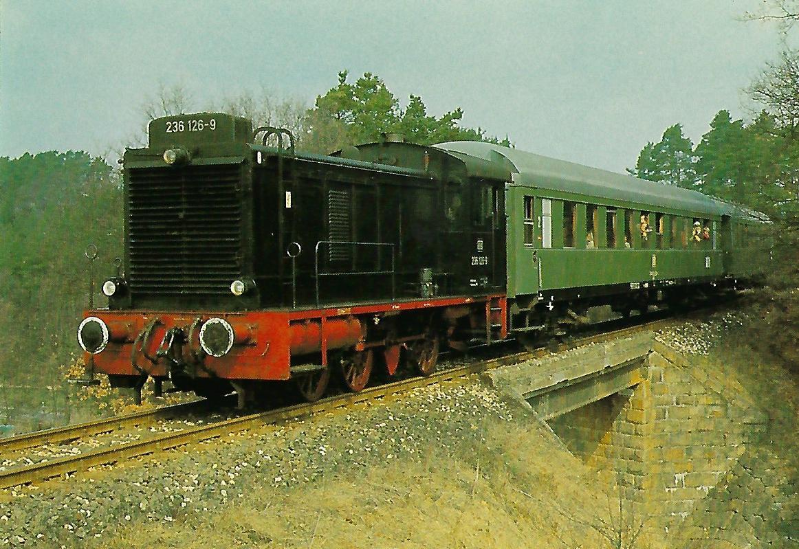 DB, diesel-hydraulische Lokomotive 236 126-9 bei Burgthann. Eisenbahn Bestell-Nr. 10405