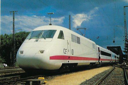 ICE, Hochgeschwindigkeitszug der DB, BZA München 1985, Bo'Bo' (Triebkopf). (10436)