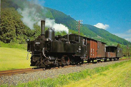 ÖBB, Schmalspur-Dampflokomotive 298-56 auf der Steyrtalbahn, September 1967. Eisenbahn Bestell-Nr. 10454