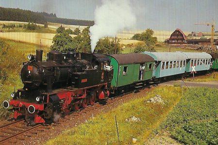 Hessencourrier, Dampflokomotive HC 206 bei Hoof, 1986. (10464)
