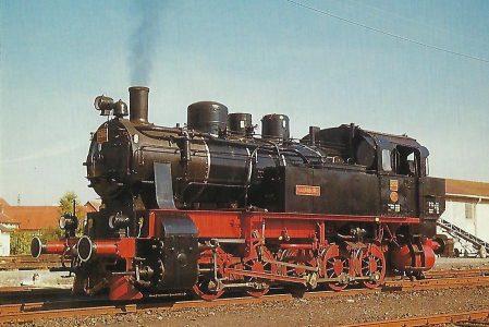 Hessencourrier, Dampflokomotive HC 206 in Naumburg bei Kassel, 1985. (10465)