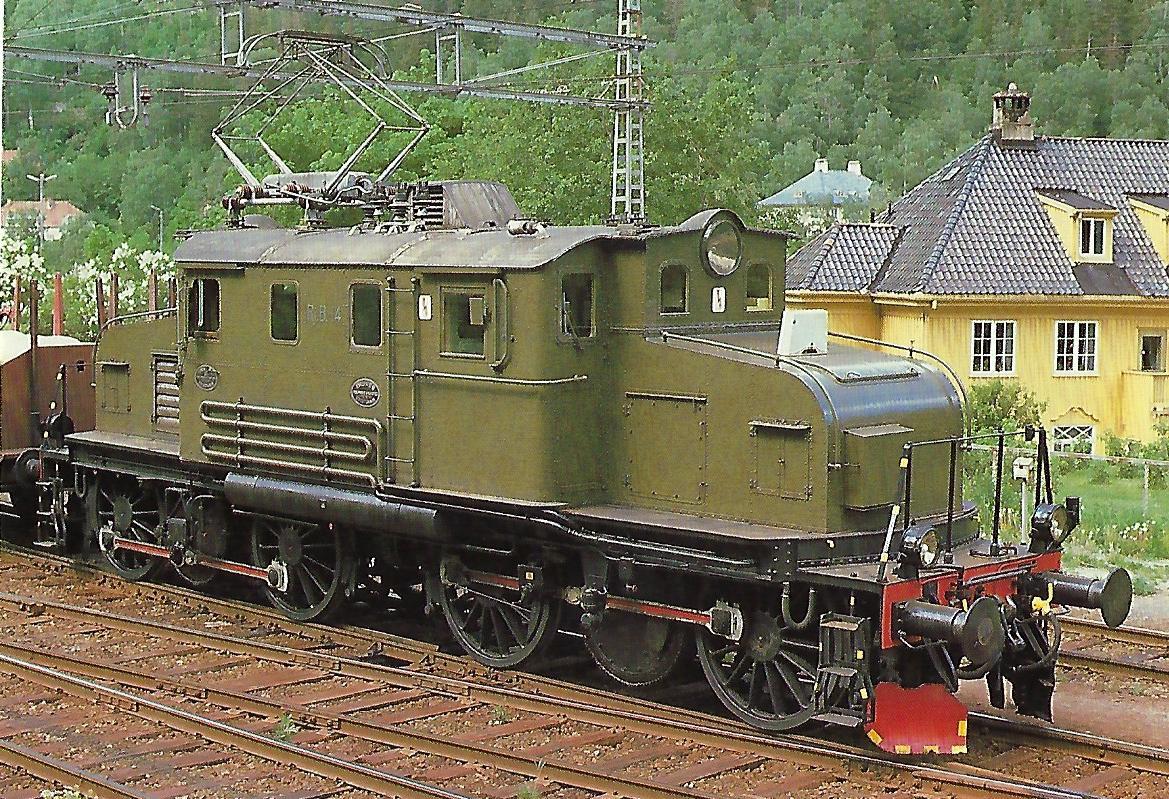 Rjukanbahn, elektrische Lokomotive Nr. 14 (ex NSB El 1.2001) bei Rjukan / Norwegen im Mai 1978. Eisenbahn Bestell-Nr. 10467