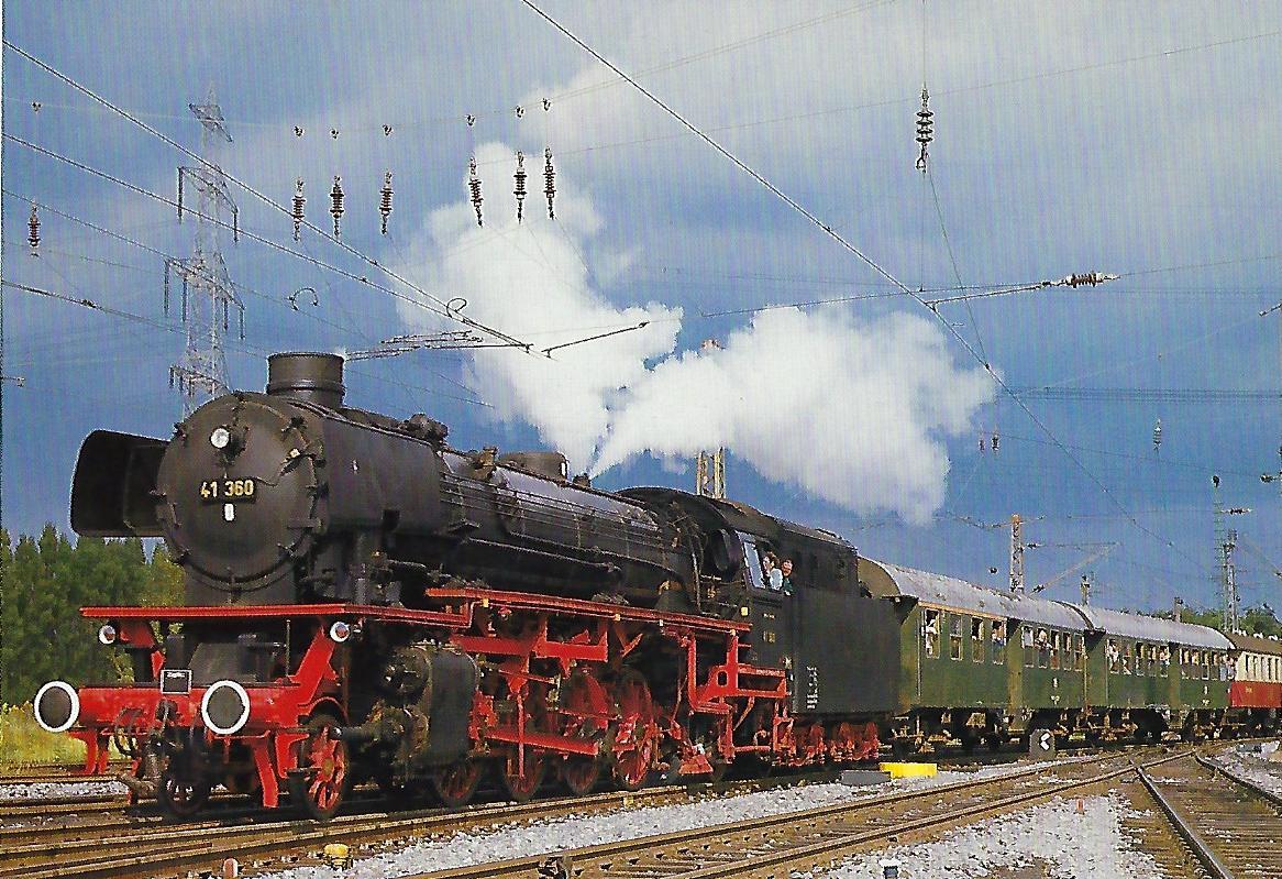 DB, Eilgüterzuglokomotive mit Ölfeuerung 1987 auf der Wanne-Herner Eisenbahn. Eisenbahn Bestell-Nr. 10486