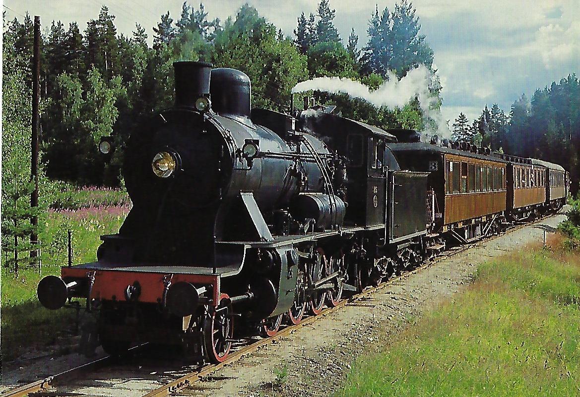 Norwegischer Eisenbahnclub, Museumsbahn Vikersund – Kroderen, Juli 1985. NSB 236, Baureihe 24b, 1'Dh2, Thune 1912. Eisenbahn Bestell-Nr. 10501