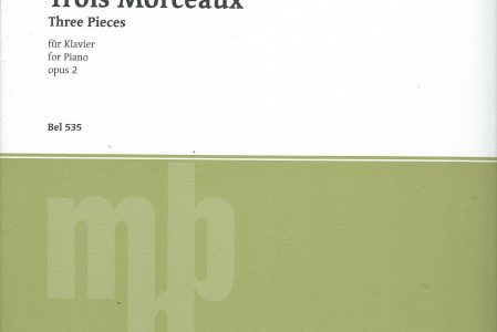 Skrjabin, Alexander :  Trois Morceaux. Three Pieces for Piano. op. 2 .