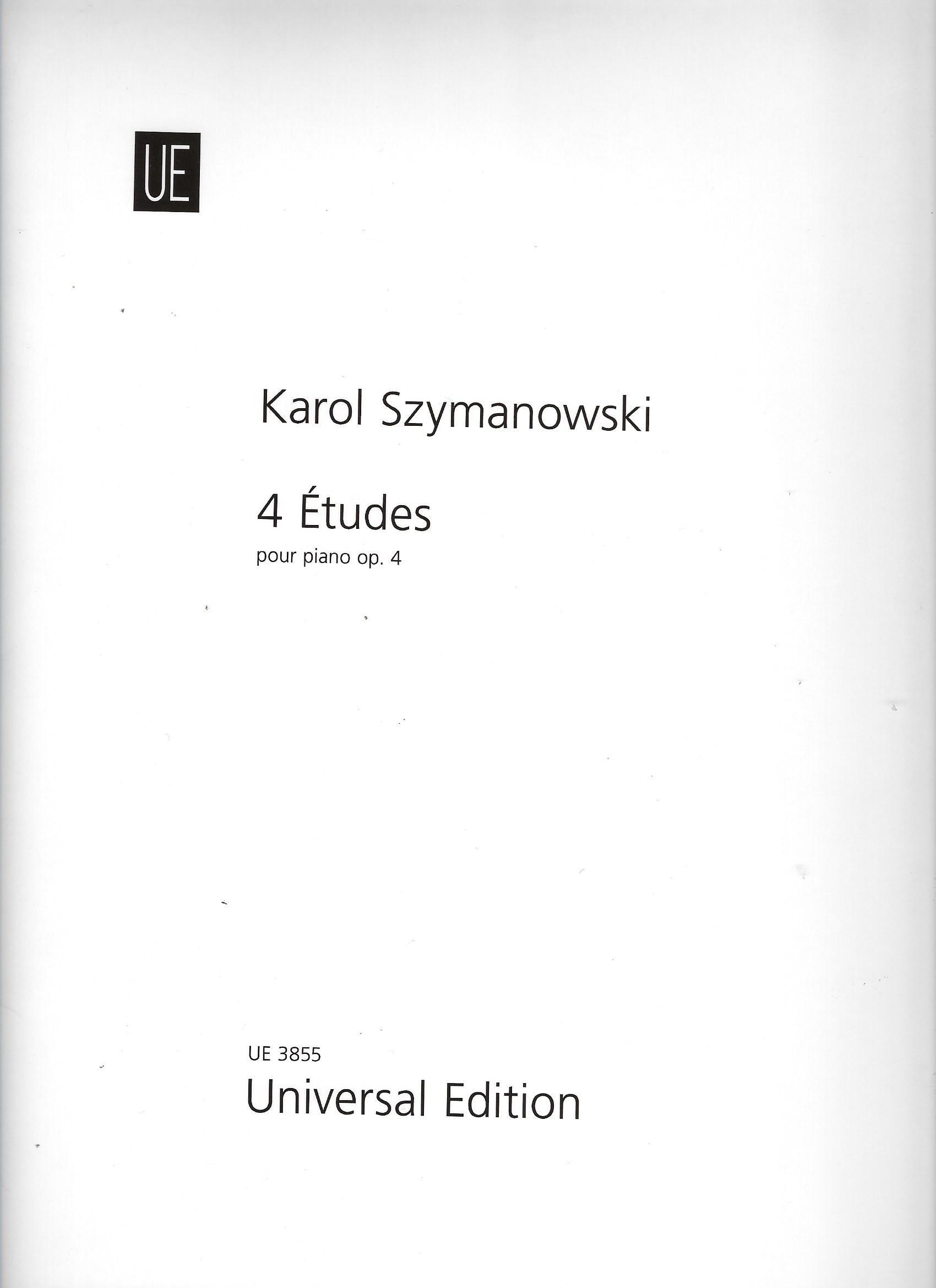 Szymanowski, Karol. 4 Études. op. 4. für Klavier.