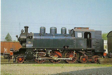 BEM, Dampflokomotive TAG 8, 1'Ch'h2t, 1987 im Bayerischen Eisenbahnmuseum, Nördlingen. Eisenbahn Bestell-Nr. 10524