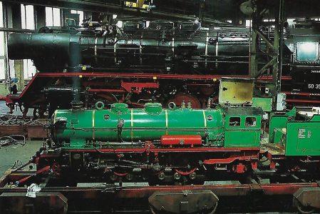 Dampflokwerk Meiningen 50 3501 und Lok 1 der Parkeisenbahn Dresden. Eisenbahn Bestell-Nr. 50720